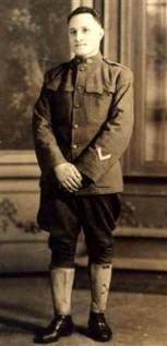Joe in WWI uniform
